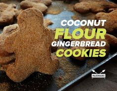 Soft and chewy paleo gingerbread cookies made with coconut flour and coconut sugar.