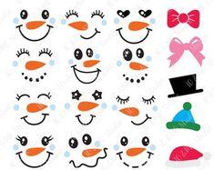 Snowman Faces, Cute Snowman, Snowman Crafts, Snowmen, Christmas Craft Projects, Christmas Crafts, Christmas Snowman, Winter Christmas, Decorated Cookies