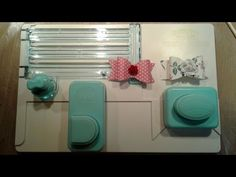 Make Cute Bows With The Alphabet Punch Board - YouTube