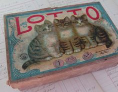 Kitty Lotto Antique McLoughlin Lotto Game with by GraciesCottage