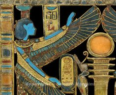 Inlaid pectoral detail, from the Funerary Equipment of Tutankhamun – New Kingdom, 18th Dynasty - From Western Thebes, Valley of the Kings, Tomb 62 – (Carter 261i), Cairo, Egyptian Museum.