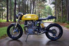 The Honda 'Bumblebee' Is A Wrecked Moto Turned Killer Carbon Fiber Cafe Racer Cx500 Cafe Racer, Scrambler, Cb 750 Cafe Racer, Cafe Racer Build, Cafe Racer Motorcycle, Motorcycle Outfit, Cafe Racers, Motorcycle Design, Yamaha R1