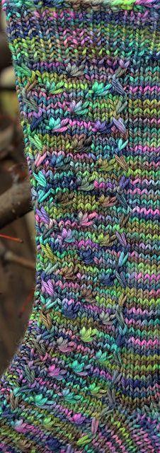 I love how this plays with the multicolored yarn! Such a pretty pattern!  Ravelry: All of My Ducks in a Row pattern by Amy Kenagy
