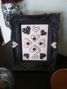 Picture frame decorated with salt dough