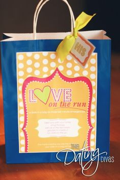 Love on the Run - Date Night in a Bag  thedatingdivas.com