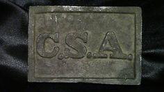 American Civil War Confederate Belt Buckle CSA Rare War Memorabilia