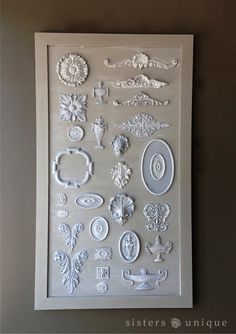 Efex™ Appliqués are flexible and can easily be glued to plain furniture orframes tocreate a one-of-a-kind custom piece.
