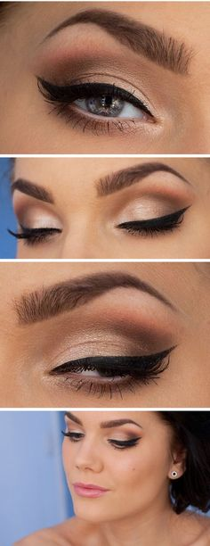 Simple eye look