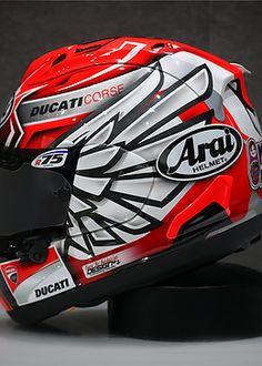 thebarbarian   arai mika giron Motorcycle Helmet Design, Biker Helmets, Biker Gear, Racing Helmets, Racing Motorcycles, Motorcycle Gear, Shoei Helmets, Arai Helmets, Ducati Hypermotard