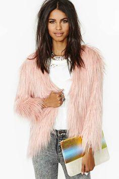 Fairy Floss Faux Fur Coat