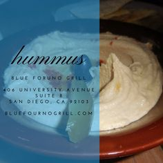 Come get your hummus fix #bluefournogrill #sandiego #Mediterranean #food #fresh #healthy #local