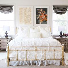Master bedroom design tips - The fast and fastest interior decorating trick? Walls get dirty after a while and need a brand new coat of paint. Dream Bedroom, Home Bedroom, Bedroom Decor, Bedroom Mint, Bedroom Inspo, Bedroom Retreat, Bedroom Ideas, Home Decor Sale, Master Bedroom Makeover