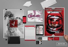 MAJOR TOM BRANDING MOCK UP by aed abit contemporary vignette, via Behance