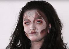 Specialist Hair & Media Make-up student, Kira Gwilliam-Keaton uses her skills to create a demon for Halloween.