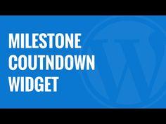 How to Add a Milestone Countdown Widget in WordPress http://imhabib.com/add-milestone-countdown-widget-wordpress/