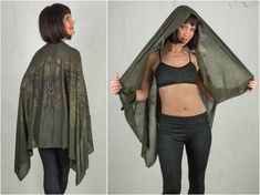 Festival Shawl and with Crow Bird Print. Its the perfect light Summer Scarf and feels like Cashmere. For Raven Cosplay or Green Witch. The best Sarongs and Head Scarf for the Summer Season The Crow Safi gorgeous dark mori print is made of super soft and light Modal material. This is a high tech Elven Cosplay, Pixie Costume, Crow Bird, Festival Outfits, Festival Fashion, Summer Scarves, Cashmere Scarf, Jedi Outfit, Pixie Outfit