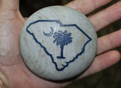 4 Inch Engraved South Carolina Palmetto State Tree by Studio569