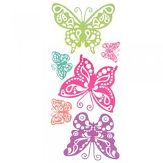 10 Giant Butterfly Wall Stickers Stikarounds €16.70 : very pretty for a tween girls bedroom