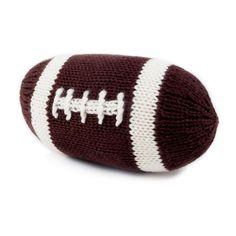 Organic Football Rattle Baby Toy