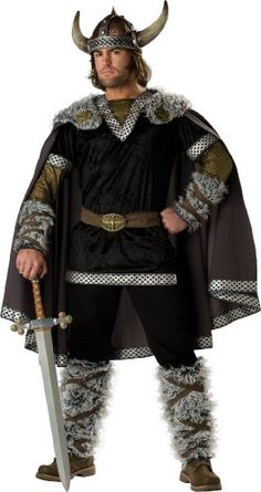 InCharacter Costumes, LLC Viking Warrior Adult Male, Black/Gold, X-Large - Click image twice for more info - See a larger selection of mens halloween costume at http://costumeriver.com/product-category/mens-halloween-costumes/ -  holiday costume , event costume , halloween costume, cosplay costume, classic costume, scary costume, super heroes costume, classic costume, clothing
