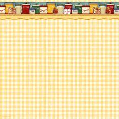 Cookbookin Cookin Up Memories Pantry Shelf Scrapbook Paper