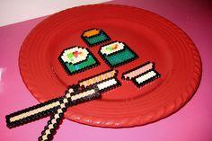Miso Happy Sushi perler beads by icedgrandesoylatte