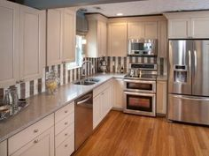 See how your favorite celebrity hosts from shows like HGTV's Kitchen Cousins and Property Brothers transformed 20 small kitchens into gorgeous and functional spaces.
