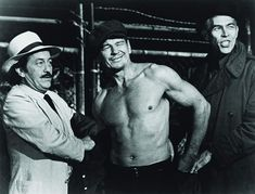 Charles Bronson, James Coburn, and Strother Martin in Hard Times Charles Bronson, Strother Martin, Natalie Portman Style, Yul Brynner, Hard Men, Tough Guy, Steve Mcqueen, Movie Collection, Bruce Lee