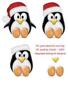 Christmas decoupage Christmas Picks, Christmas Topper, 3d Christmas, Christmas Cards To Make, Christmas Clipart, Christmas Animals, Christmas Images, Xmas Cards, Handmade Christmas