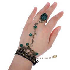Flower Lace Ring Bracelet