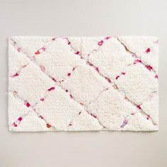 Vibrantly patterned with reclaimed cotton fabrics from India, this soft, super-plush bath essential adds eye-catching intrigue to your bathroom decor. Pink Bathroom Rugs, Bathroom Towel Decor, Bath Rugs, Flamingo Bathroom, Colorful Bathroom, Bathroom Mat, Master Bathroom, Modern Bathrooms Interior, Bed In Living Room