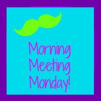 Smedley's Smorgasboard of Kindergarten: Morning Meeting Monday! SUPER SIZED!