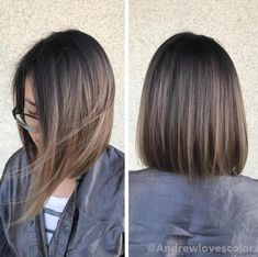Beige Babylights and balayage. Cut and color by Beige Babylights and balayage. Haircuts For Medium Length Hair, Medium Hair Cuts, Short Hair Cuts, Medium Hair Styles, Short Hair Styles, Short Straight Haircut, Straight Hairstyles, Hairstyles 2016, Straight Bob