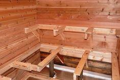 Building an Outdoor Sauna Saunas, Outdoor Sauna Kits, Building A Sauna, Sauna Design, Finnish Sauna, Sauna Room, Mountain Living, Outdoor Life, Interiores Design