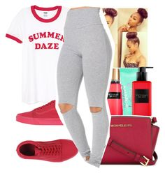 """""""Untitled #1119"""" by chynaloggins ❤ liked on Polyvore featuring Victoria's Secret, MICHAEL Michael Kors and Vans"""
