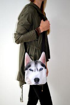 Torebka z psem husky