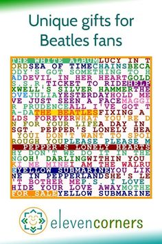 The Beatles wall art - unique posters and prints for The Beatles. Gift ideas for Beatles fans. #elevencorners #beatles #thebeatles #beatlesart #beatlesfan #beatlesgift Beatles Poster, Beatles Art, The Beatles, Music Wall Art, Music Artwork, Personalised Prints, Personalized Wall Art, Beatles Gifts, Family Wall Art