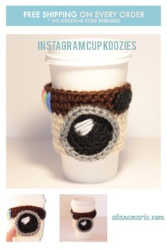 Instagram Crochet Coffee Cup Koozie In the world of social media ffb71f3fc610