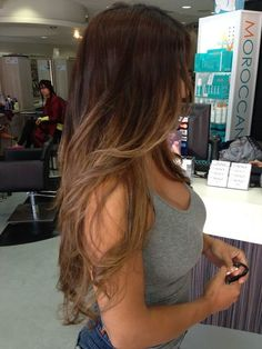 ombre hair | brown to caramel