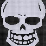 Skull Teeth Cross Stitch Pattern  - via @Craftsy