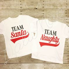 Naughty or nice HTV Christmas shirts