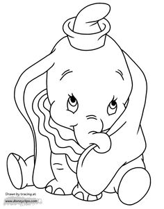 Nice Coloring Page Dumbo that you must know, You?re in good company if you?re looking for Coloring Page Dumbo Elephant Coloring Page, Baby Coloring Pages, Cartoon Coloring Pages, Disney Coloring Pages, Animal Coloring Pages, Coloring Books, Free Coloring, Disney Dumbo, Disney Art