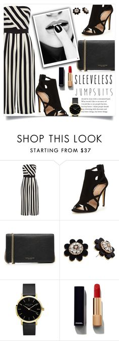 """""""Untitled #1020"""" by kaymeans ❤ liked on Polyvore featuring Coast, Marc Jacobs, Kate Spade, Chanel and sleevelessjumpsuits"""