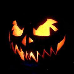 Saw tooth halloween pumpkin idea