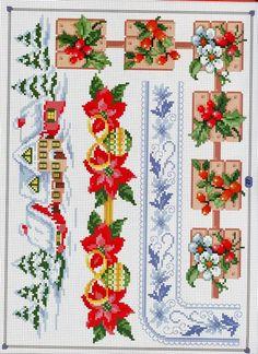 Cross Stitch Borders, Cross Stitch Charts, Cross Stitch Designs, Cross Stitching, Cross Stitch Embroidery, Cross Stitch Patterns, Embroidery Stitches Tutorial, Embroidery Designs, Christmas Cross