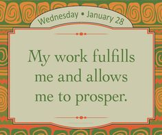 My work fulfills me and allows me to prosper. My income, assets, and good fortune are constantly increasing! - Louise Hay https://www.facebook.com/louiselhay/photos/a.423581379749.210568.12  7947779749/10153132641629750/?type=1&theater #affirmation #abudance #prosperity @hayhouseinc