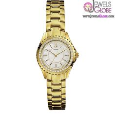 Guess Ladies Gold Mini Rock Candy Stone Set Watch