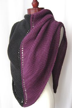 I think I found a purpose for my new yarn.  Two-Face knitted shawl by Veronica O'Neil.  Free pattern.