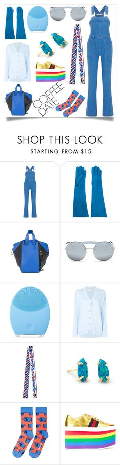 """In love with fashion"" by emmamegan-5678 ❤ liked on Polyvore featuring STELLA McCARTNEY, Maison Fabre, Loewe, Prada, FOREO, MICHAEL Michael Kors, Emilio Pucci, Kendra Scott, Happy Socks and Gucci"