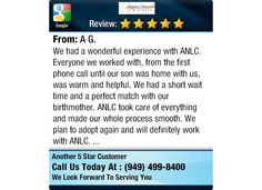 We had a wonderful experience with ANLC. Everyone we worked with, from the first phone...